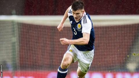 Kieran Tierney made his Scotland debut against Denmark this week