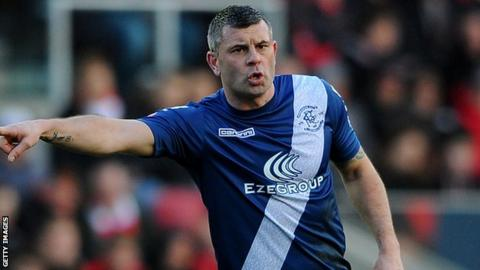 Paul Robinson gestures to a team-mate during Birmingham City's pre-season friendly against Northampton