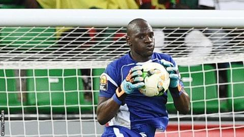 Uganda goalkeeper and captain Denis Onyango