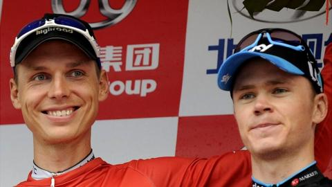 Four-time time trial champion Tony Martin and four-time Tour de France winner Chris Froome