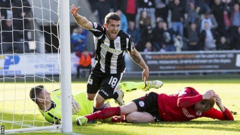 St Mirren substitute Dale Hilson
