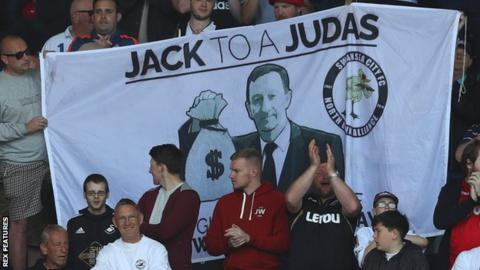Swansea City chairman Huw Jenkins has come under increasing criticism from some sections of supporters