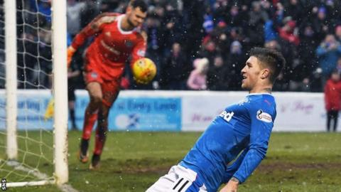 Josh Windass celebrates one of his goals against Ayr United