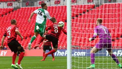 North Ferriby's Ryan Kendall scores against Wrexham
