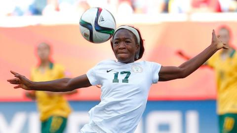 Francisca Ordega has represented Nigeria at two Fifa Women's World Cups - in 2011 and 2015
