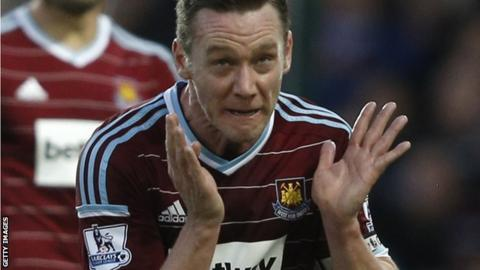 Kevin Nolan played 157 games for West ham United, scoring 31 goals