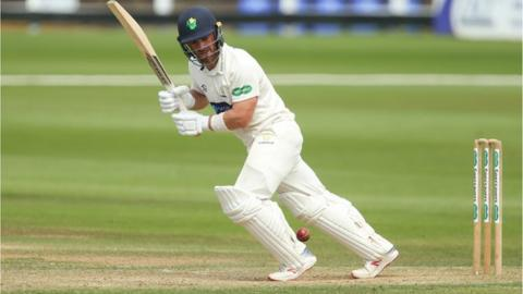 Glamorgan's David Lloyd batting against Middlesex