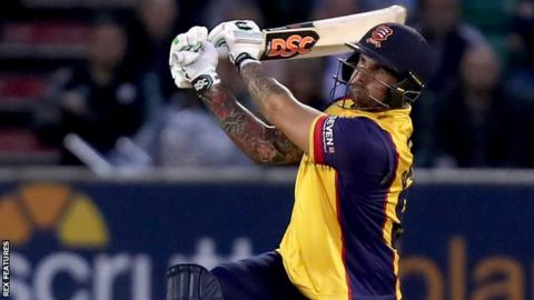 T20 Blast: Cameron Delport hits 38-ball century in amazing Essex win over Surrey