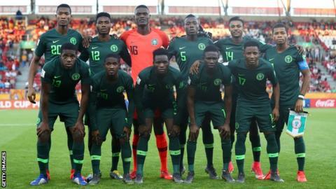 Nigeria team ahead of Senegal match at Under-20 World Cup