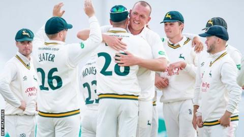 Nottinghamshire paceman Luke Fletcher finished with the sixth five-wicket haul of his career