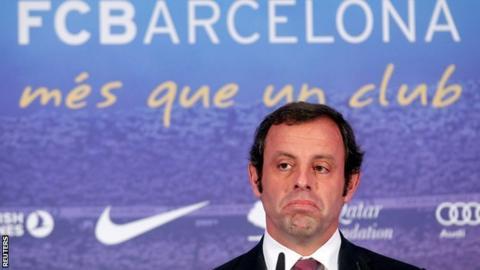 Former Barcelona president Sandro Rosell