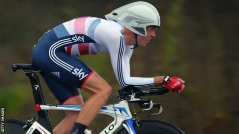 Scott Davies in action at the World Road Race Championships