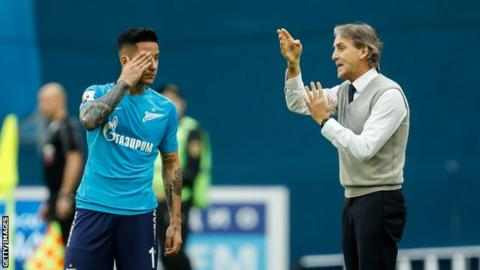 Russia's Zenit terminate Robert Mancini's contract amid his Italy interest