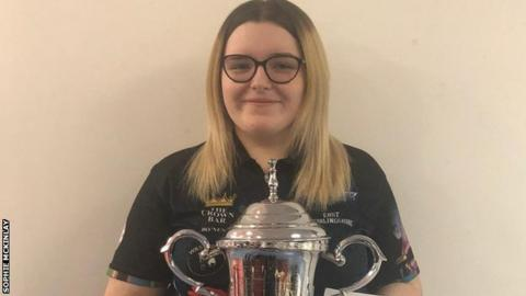 Sophie McKinlay won the senior Scottish Ladies singles title in Glenrothes in January