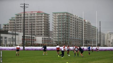 Owen Farrell England training session on Tuesday