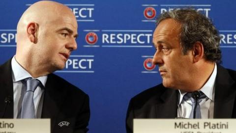 Gianni Infantino and Michel Platini