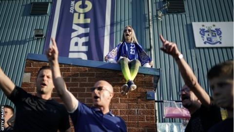 Bury fans congregated outside Gigg Lane on Friday as the deadline to avoid expulsion from the EFL approached