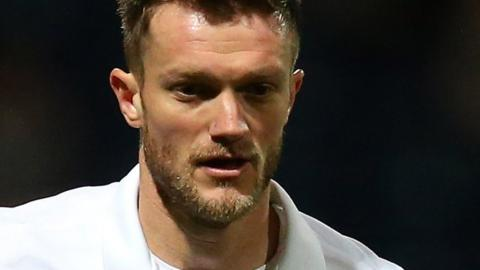 Scott Wiseman plays for Preston against Walsall in the EFL Trophy in January 2015