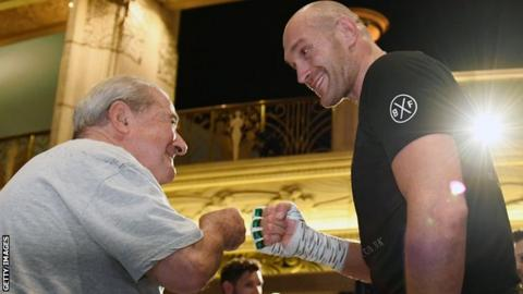 Arum (left) is promoting Fury in the US and has worked with the likes of Muhammad Ali in the past