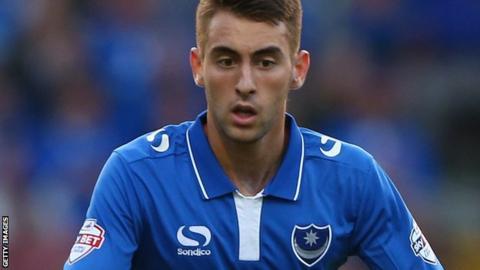 Portsmouth midfielder Ben Close