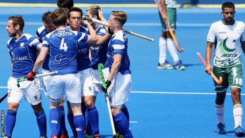 Scotland lead 1-0 at half-time against Pakistan