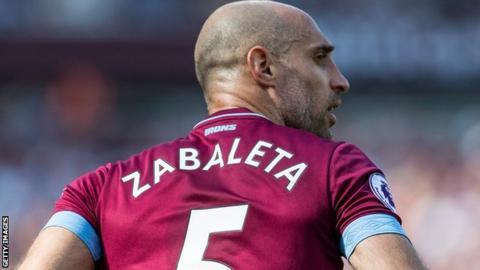 Pablo Zabaleta extends West Ham contract until 2020