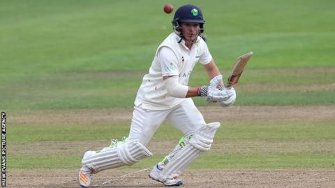 Kiran Carlson is the youngest player to reach a first-class hundred for Glamorgan