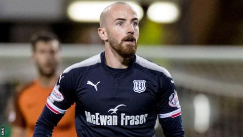 Dundee midfielder James Vincent