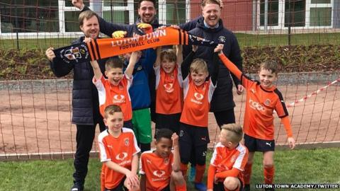 Luton Town Under-8s beat Juventus in the International Cup final