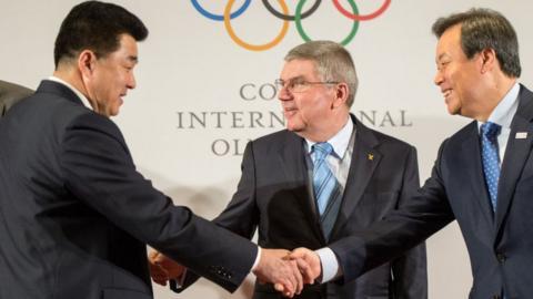 IOC meeting between North Korea and South Korea