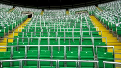 The new safe standing section at Celtic Park