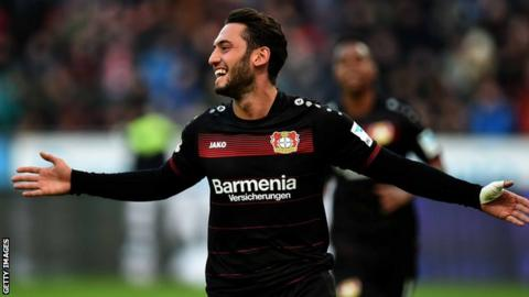 Calhanoglu is a regular in Bayer Leverkusen's team and is seen as an expert in free-kick situations