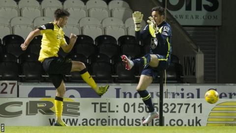 Declan Gallagher scores for Livingston against