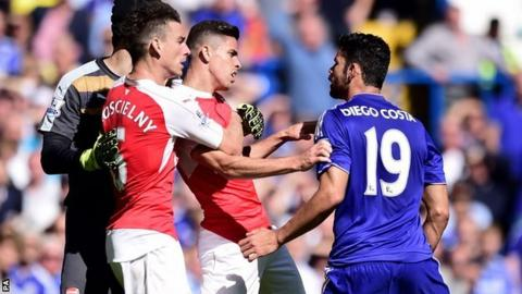 Diego Costa caused controversy in Chelsea's 2-0 win over Arsenal