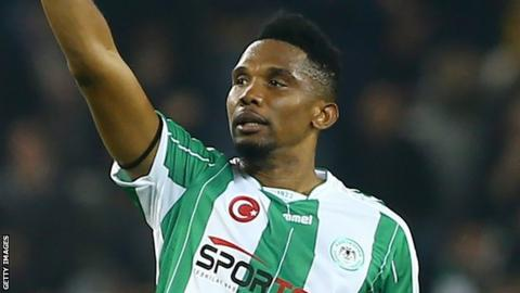 Samuel Eto'o: Qatar Sports Club announce signing of former Barcelona player