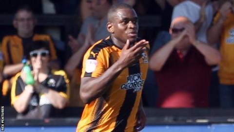 Uche Ikpeazu is leaving Cambridge United to join Hearts