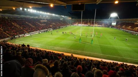 Parc y Scarlets was sold out for the pool match against Toulon in January
