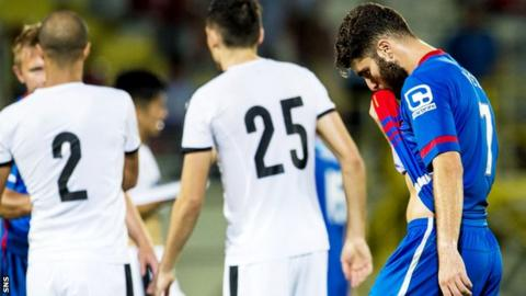Caley Thistle strike Dani Lopez shows his disappointment