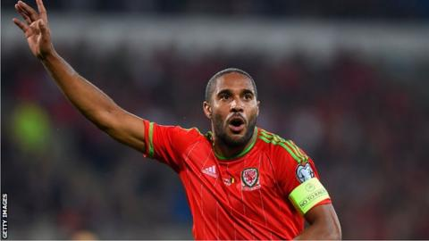 Ashley Williams in action for Wales