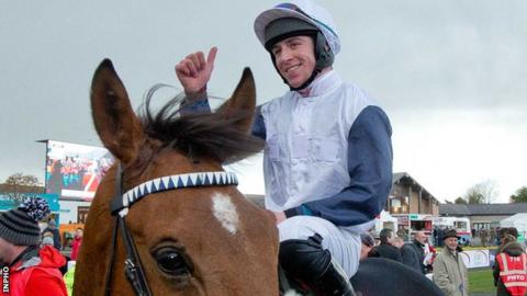 Gavin Sheehan celebrates after winning on One Track Mind