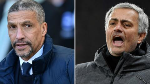Chris Hughton and Jose Mourinho