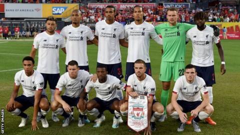 Liverpool squad against Sporting Lisbon