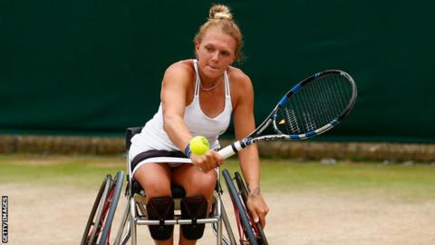 Wheelchair tennis player Jordanne Whiley
