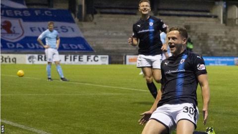 James Gullan celebrates