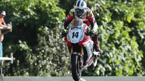 William Dunlop in action during qualifying for this year's TT