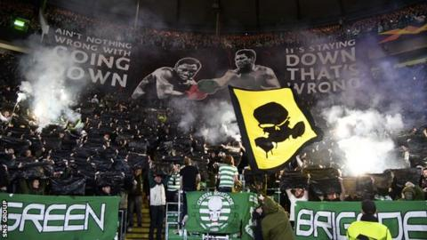 Fans in rows A-M will be affected by the closure after a series of Uefa fines