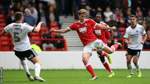 Kieran Dowell scores for Nottingham Forest against Sheffield United