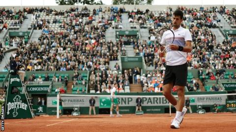 Novak Djokovic (right)