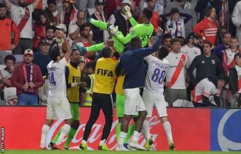 River Plate 2-2 Al Ain (4-5 pens)