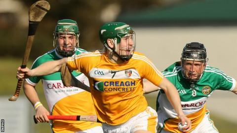 Paul Shiels on the attack for the Saffrons in a 2015 league game against Offaly